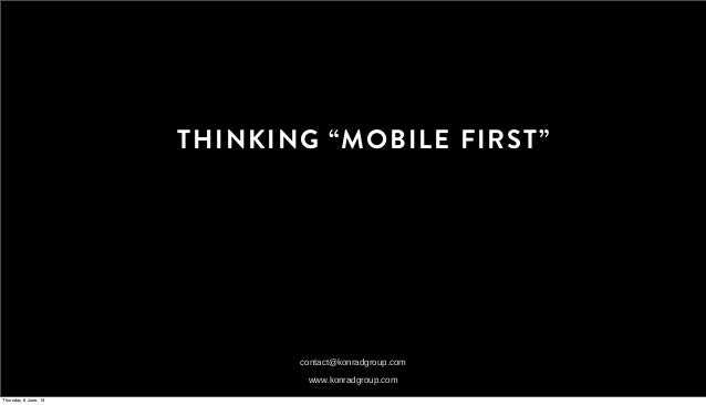 Thinking 'Mobile First'