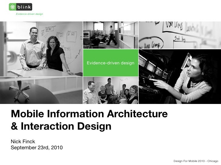 Mobile Information Architecture and Interaction Design