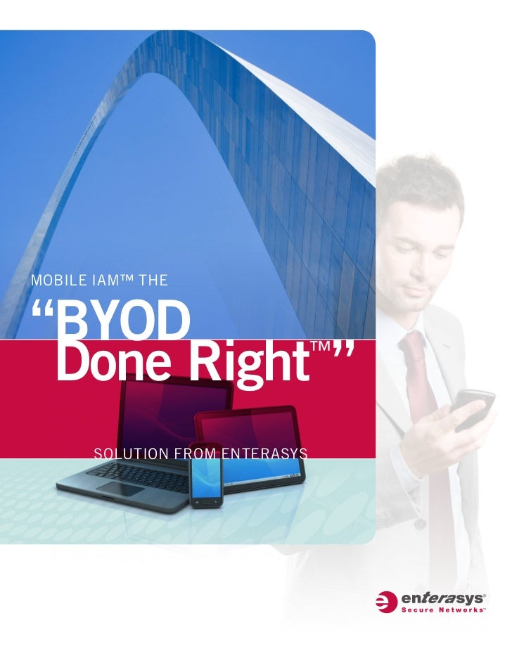 """MOBILE IAM™ THE""""BYOD Done Right """"           ™      SOLUTION FROM ENTERASYS"""