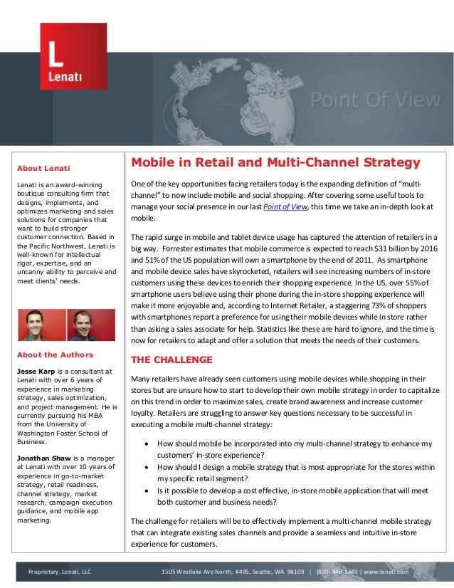 Mobile in Retail and Multi-Channel Strategy