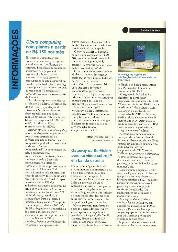 Mobile ip video e ser vision na rti nov-2009-pg.6-7