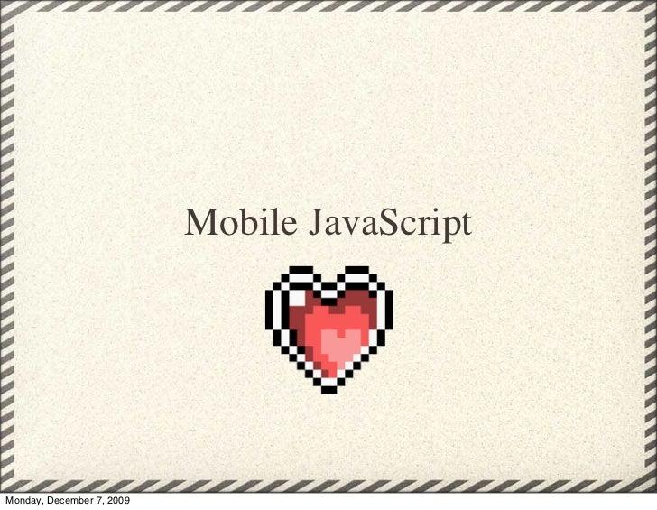 Mobile JavaScript