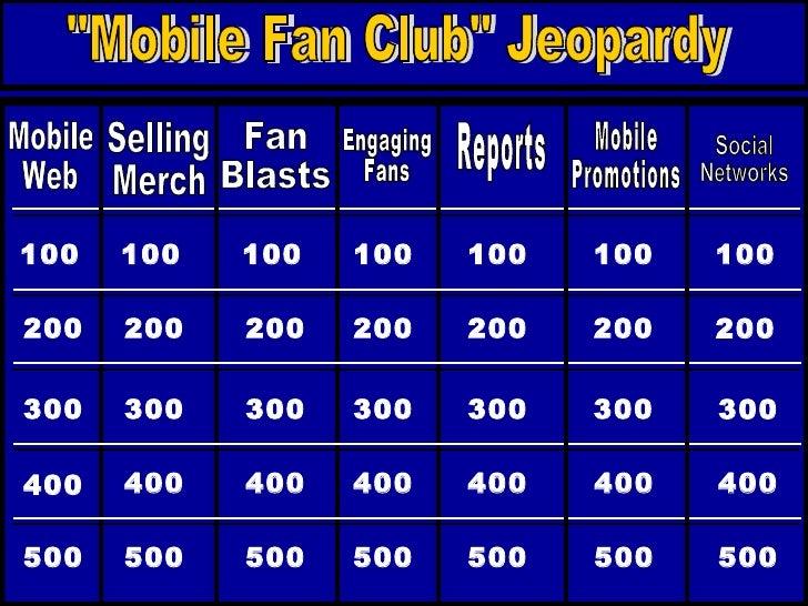 Mobile Jeopardy