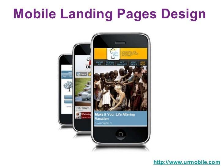 Mobile Landing Pages Design