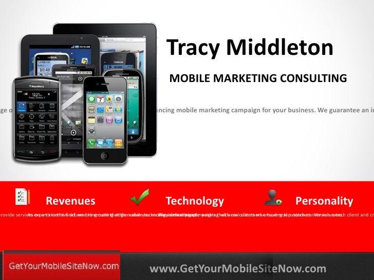 Tracy Middleton                                                                            MOBILE MARKETING CONSULTINGnge ...