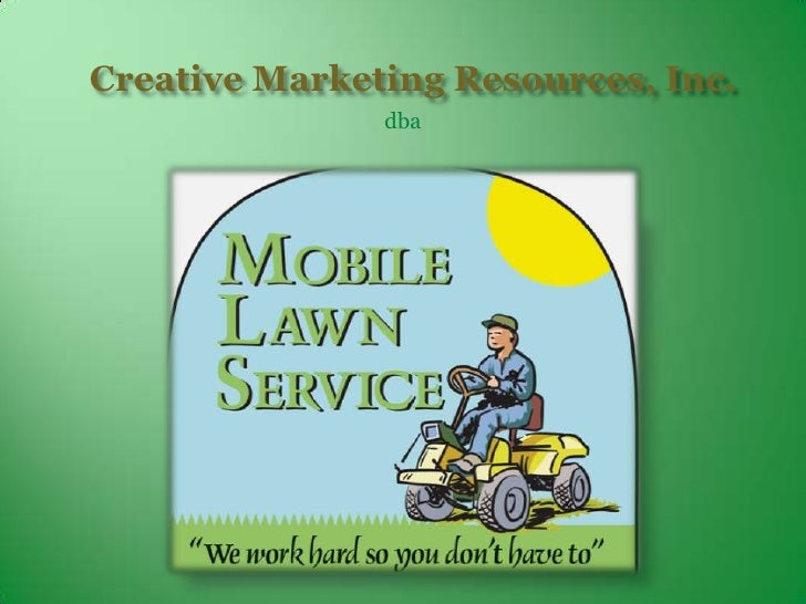 Mobile Lawn Service Powerpoint