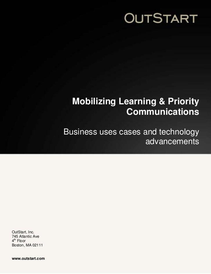Outstart Mobile Learning