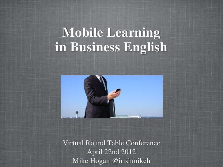 Mobile learning in Business English