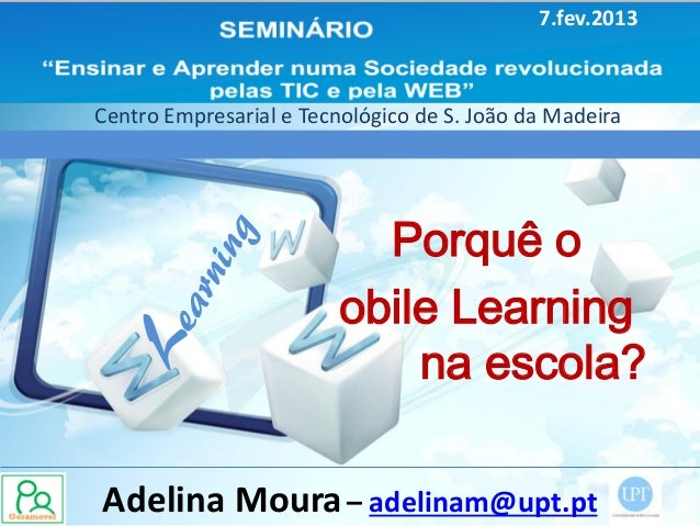Porquê o mobile learning na escola?