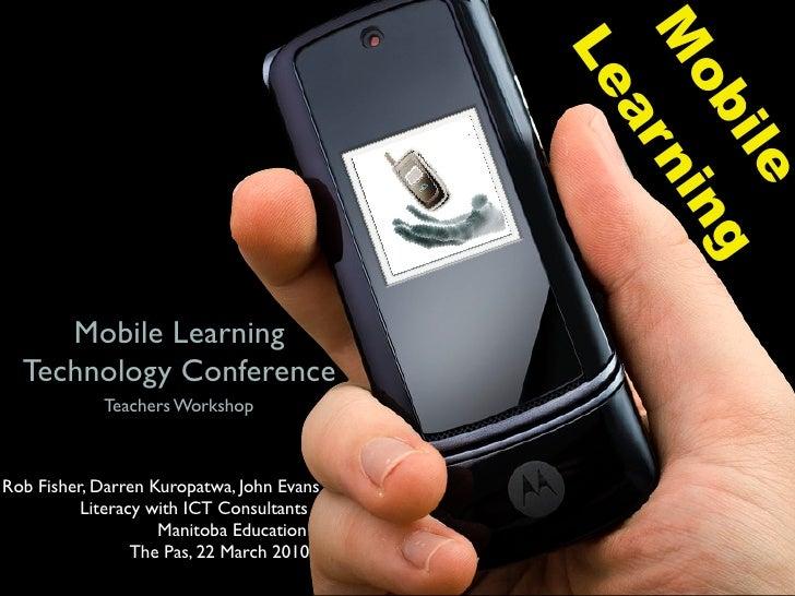 Mobile Learning v3.1 Teachers Workshop
