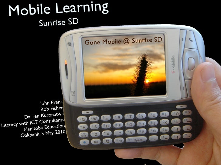 Mobile Learning                   Sunrise SD                                    Go ne Mobile @ Sunrise SD                 ...