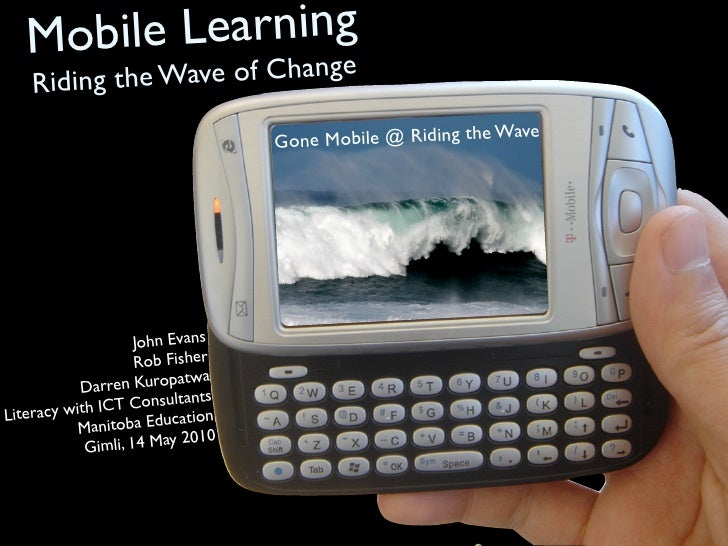 Mobile Learning     Riding t   hange              he Wave of C                                                            ...