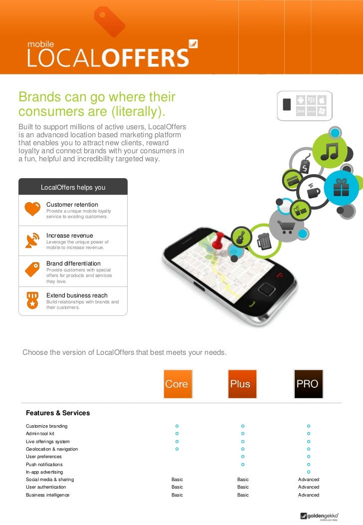 Brands can go where theirconsumers are (literally).Built to support millions of active users, LocalOffersis an advanced lo...
