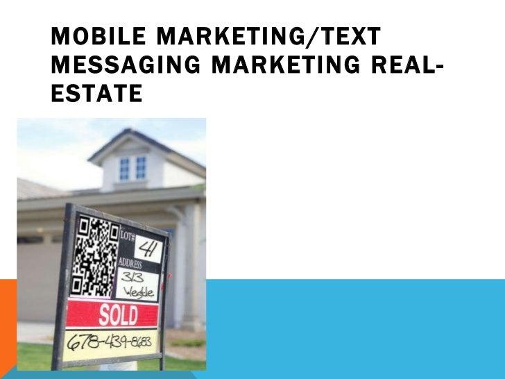 Mobile Marketing Strategies Real-Estate