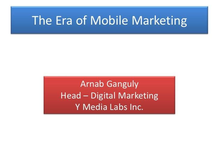 Mobile Marketing Workshop Bangalore  by Web Marketing Academy