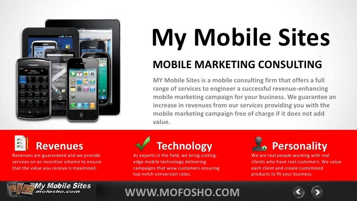 My Mobile Sites                                                      MOBILE MARKETING CONSULTING                          ...