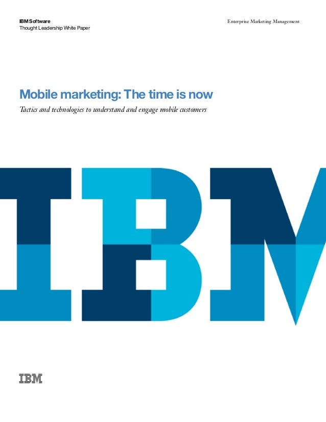 Mobile marketing   the time is now