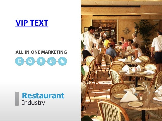 VIP TEXT Restaurant Industry