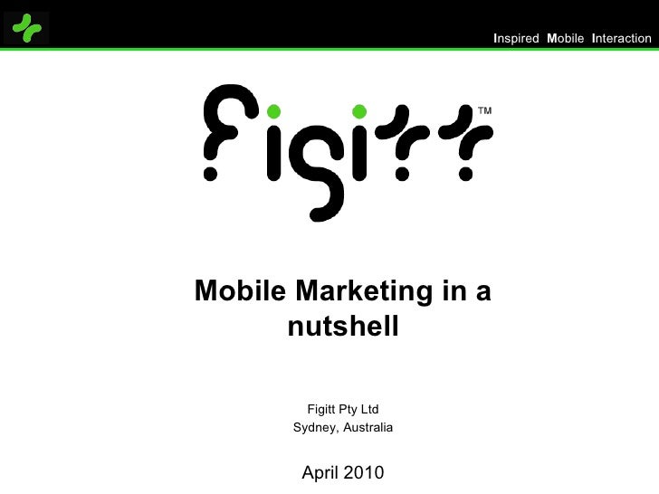 Mobile Marketing in a nutshell