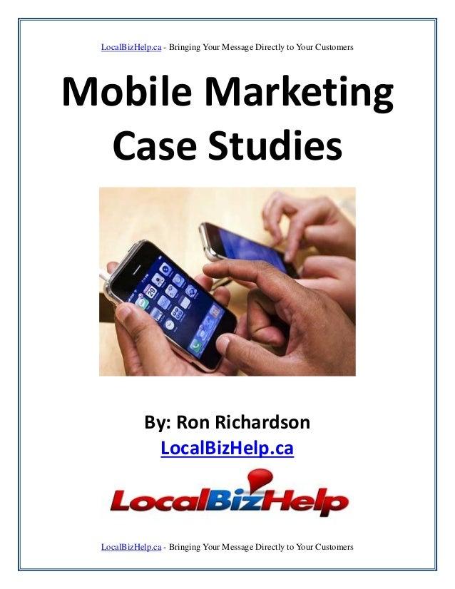 Mobile marketing case studies