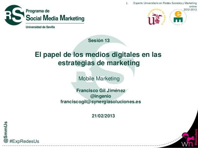 Expero Universitario en RedesRedes Sociales y Marketing                                       Experto Universitario en Soc...