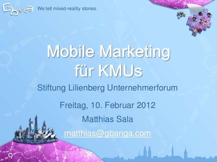 Mobile Marketing für KMU's: Das Momentum des Kaufsentscheids beeinflussen