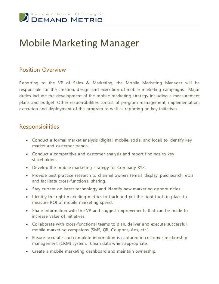 Advertising Director Job Description. Marketing Manager Job ...