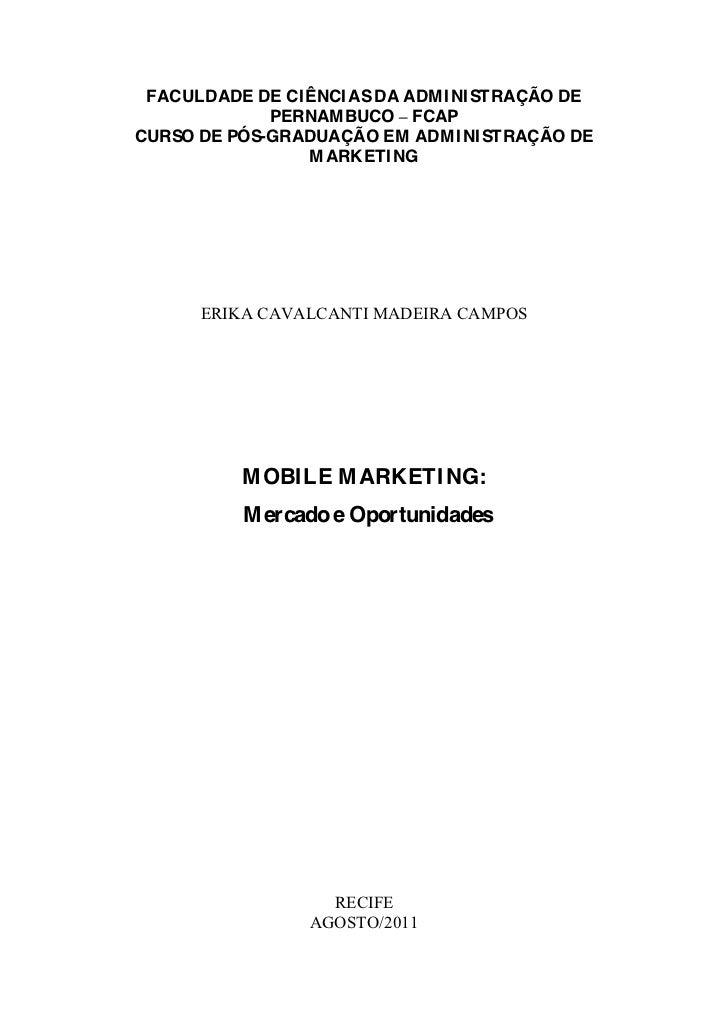 Mobile marketing mercado_e_oportunidades_erika_campos