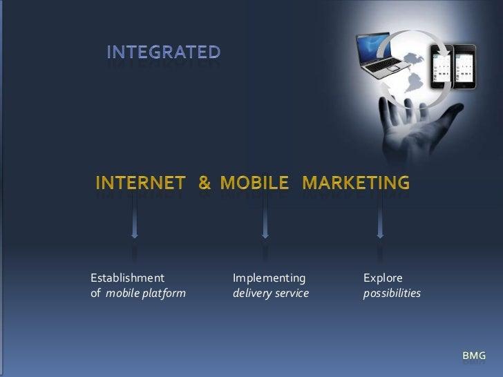 INTEgrated<br />Internet   &  Mobile   marketing<br />Implementingdelivery service <br />Establishmentof  mobile platform<...