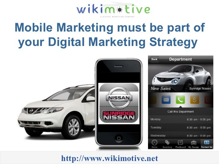Mobile Marketing must be part of your Digital Marketing Strategy