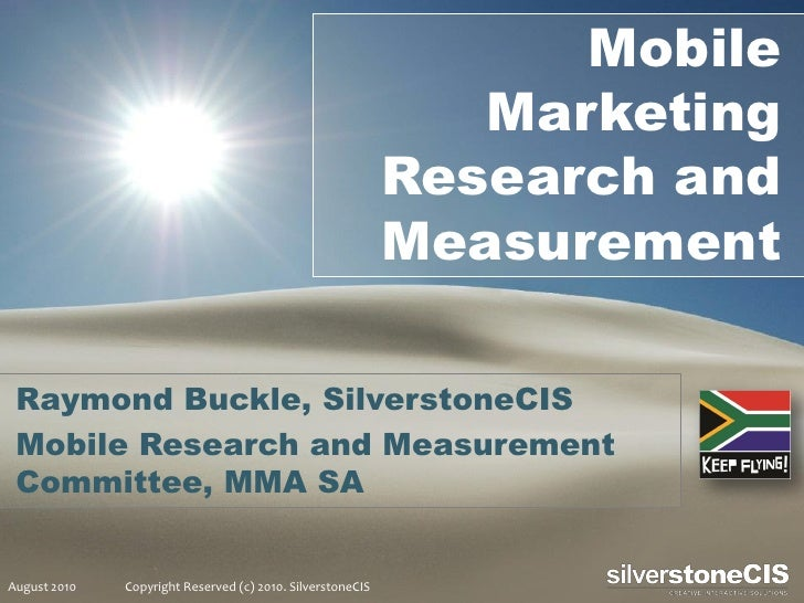 Mobile Marketing Research MMA South Africa