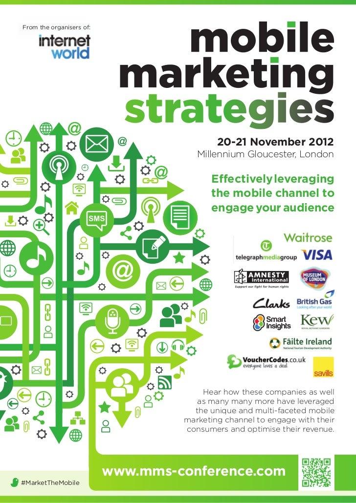 Mobile marketing strategies brochure