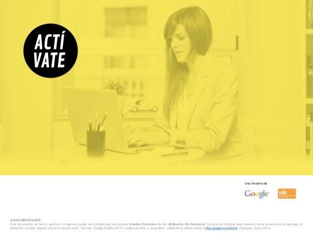 AVISO IMPORTANTE Este documento, su texto y gráficos e imágenes, puede ser utilizado bajo una licencia Creative Commons de...
