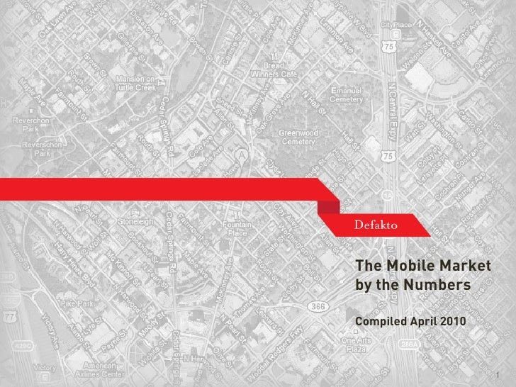 The Mobile Market                                by the Numbers                                 Compiled April 2010    Cop...