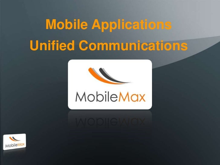 Mobile Max Overview May11