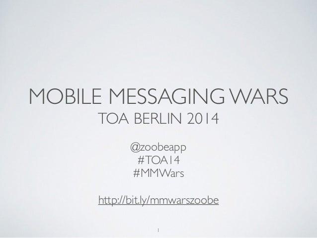 Mobile messaging wars facebook messenger whatsapp line kakaotalk