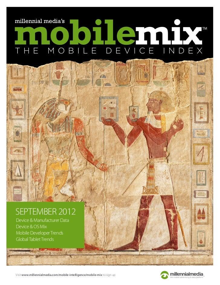 Mobile Mix Report - September 2012 - Millennial Media