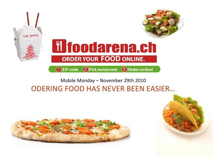FoodArena: Ordering food has never been easier…