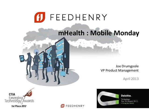 Mobile monday mhealth