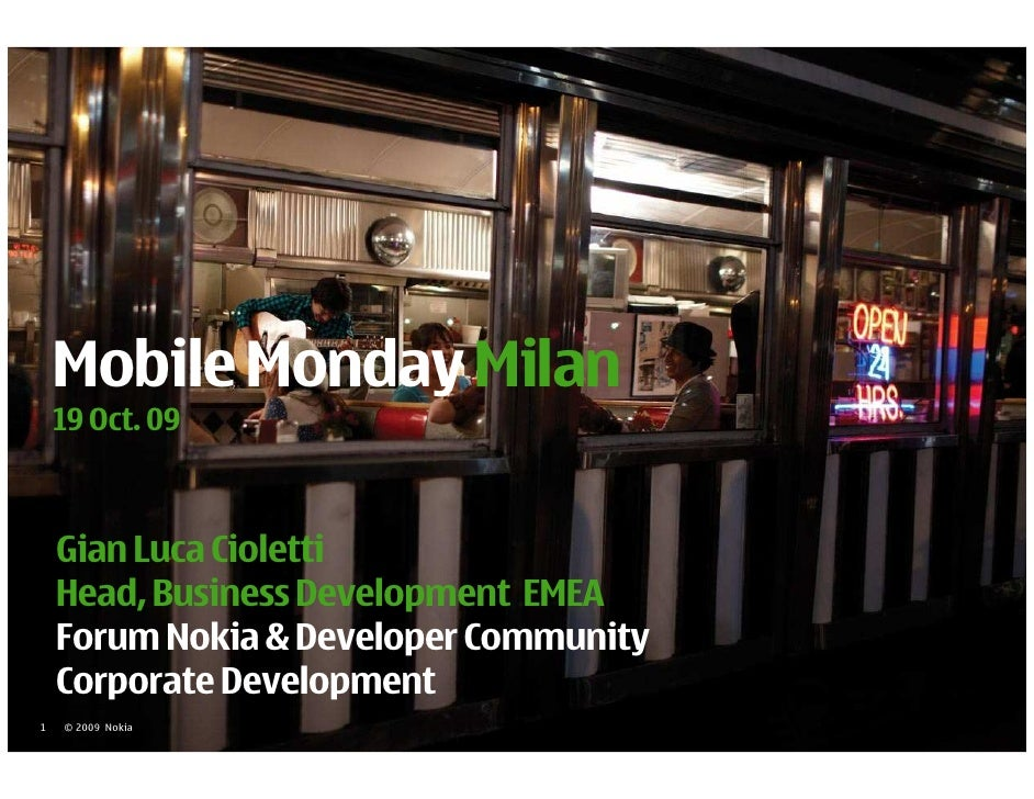 Mobile Monday Milan 191009 1
