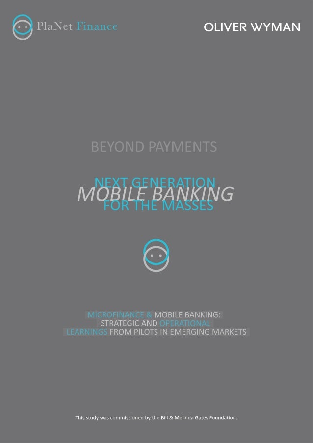 "ContentsCC 3Beyond Payments "" Next GeneraƟon Mobile Banking for the Masses ofTable ooooooo C o C o C o C o C o C o C o C o..."
