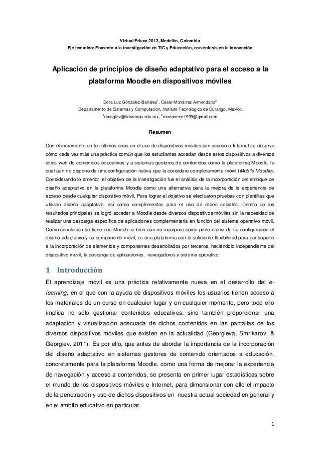 1 Virtual Educa 2013, Medellín, Colombia Eje temático: Fomento a la investigación en TIC y Educación, con énfasis en la in...