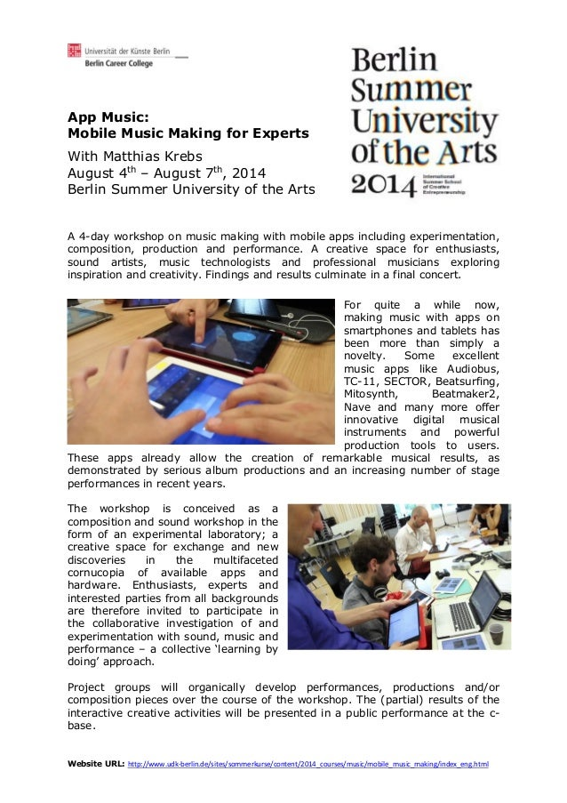 Mobile Music Making for Experts_Workshop in Berlin 2014