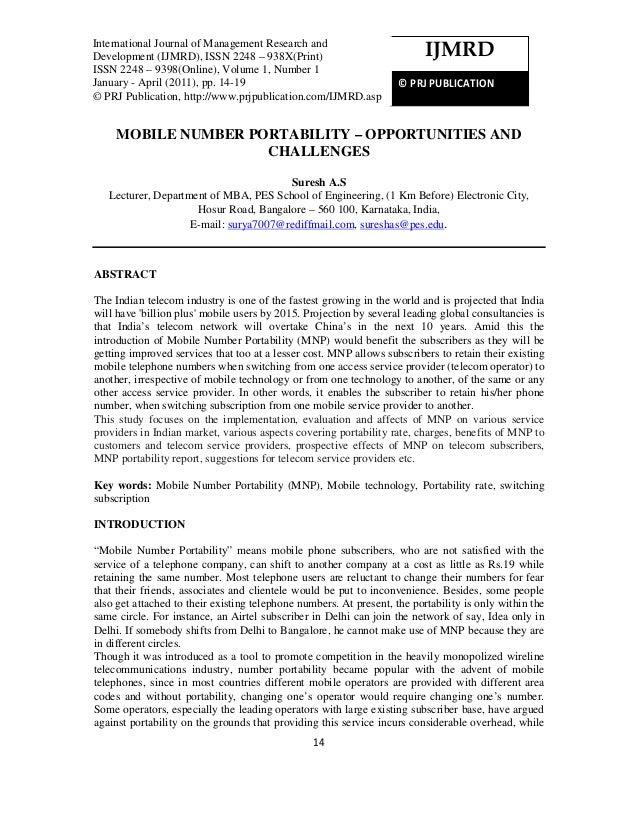InternationalJournal ofof Management Research Development (IJMRD), ISSN 2248 – 938X(Print)International Journal Management...