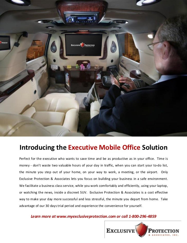 Introducing the Executive Mobile Office SolutionPerfect for the executive who wants to save time and be as productive as i...