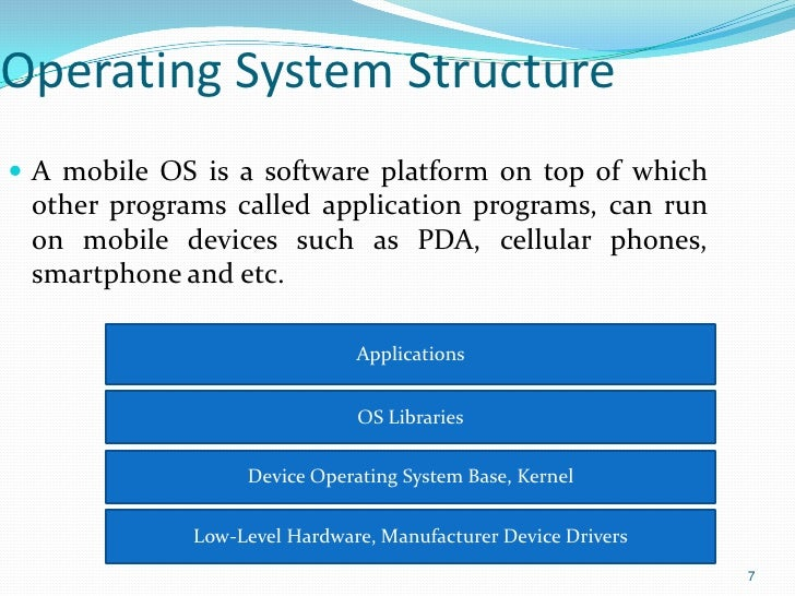 monolithic structure of operating system pdf