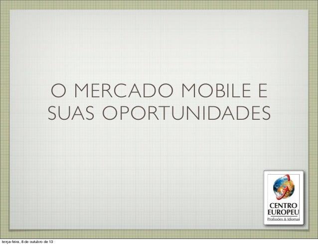 O Mercado Mobile e Suas Oportunidades