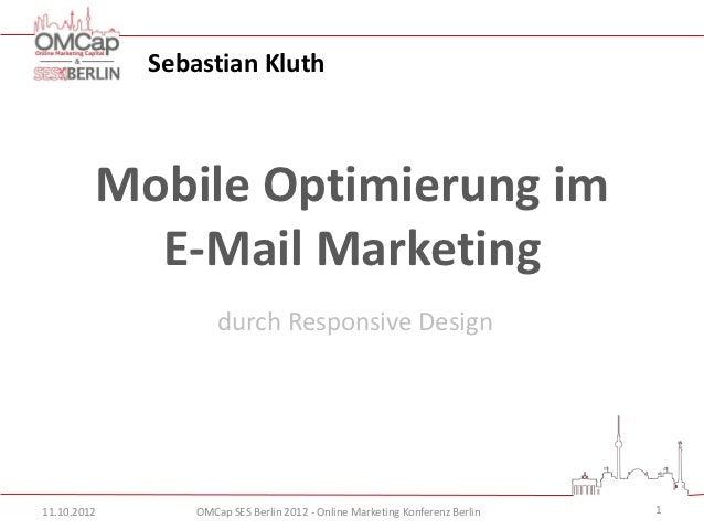 mobile Optimierung im E-Mail Marketing