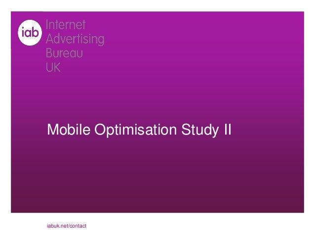 Mobile Optimisation Study IIiabuk.net/contact