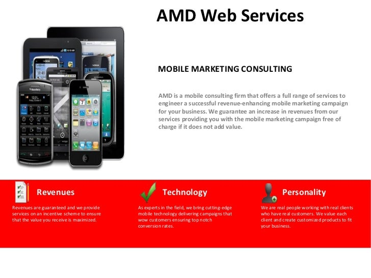 AMD Web Services                                                     MOBILE MARKETING CONSULTING                          ...